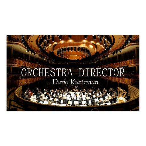 Directeur Music Instructor Lessons d'orchestre Carte De Visite