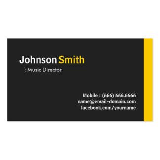 Directeur musical - ambre minimaliste moderne modèle de carte de visite