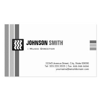 Directeur musical - blanc noir créatif carte de visite standard