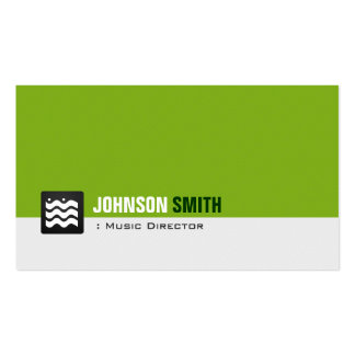 Directeur musical - blanc vert organique carte de visite standard