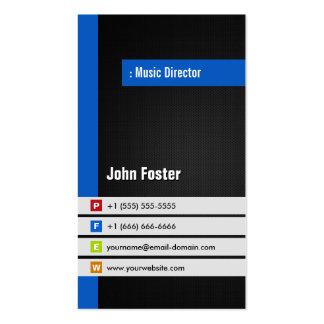 Directeur musical - bleu élégant moderne carte de visite standard