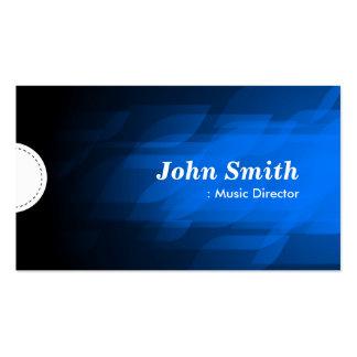 Directeur musical - bleu-foncé moderne cartes de visite personnelles