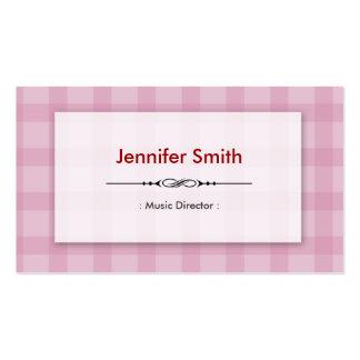 Directeur musical - carrés assez roses carte de visite standard