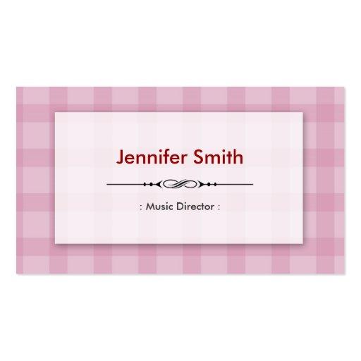 Directeur musical - carrés assez roses modèles de cartes de visite