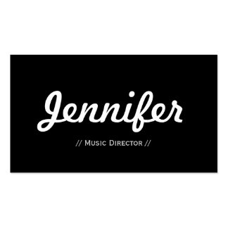 Directeur musical - concis simple minimal carte de visite standard