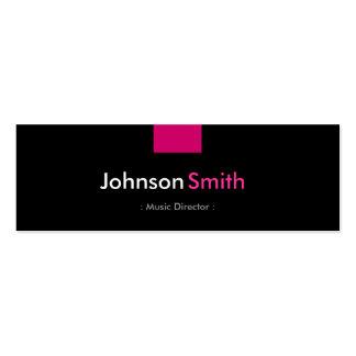 Directeur musical - contrat de rose rose cartes de visite personnelles