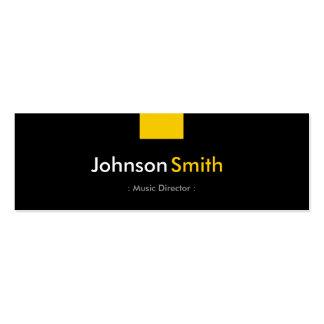 Directeur musical - contrat jaune ambre modèles de cartes de visite