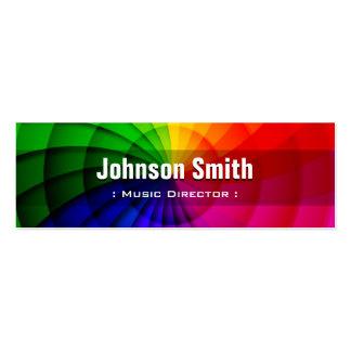 Directeur musical - couleurs radiales d'arc-en-cie carte de visite