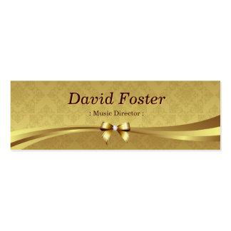 Directeur musical - damassé brillante d'or cartes de visite professionnelles