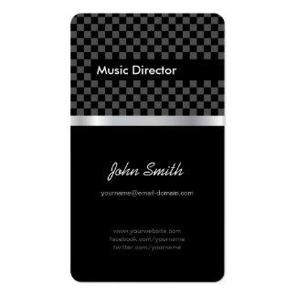 Directeur musical - échiquier noir élégant carte de visite standard