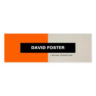 Directeur musical - élégant élégant simple carte de visite petit format