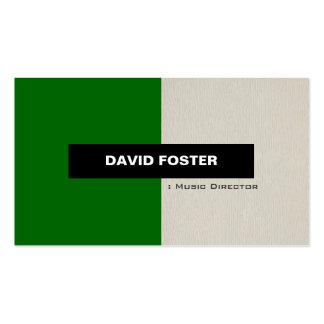Directeur musical - élégant élégant simple carte de visite standard