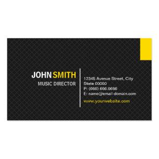 Directeur musical - grille moderne de sergé carte de visite standard