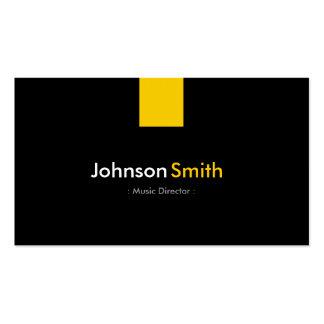 Directeur musical - jaune ambre moderne carte de visite standard
