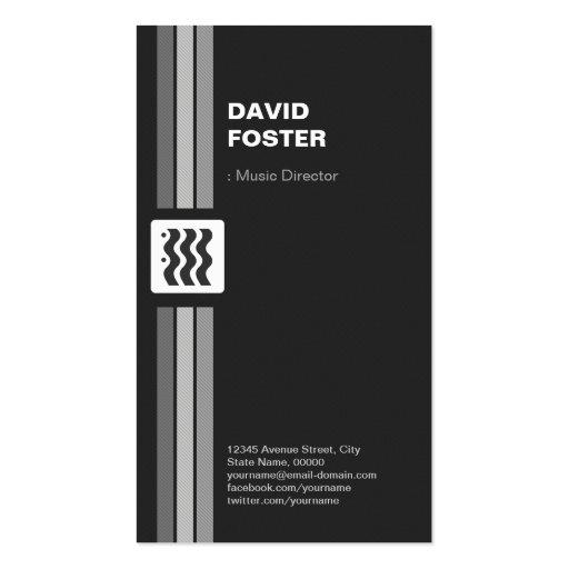Directeur musical - le double de la meilleure qual cartes de visite personnelles