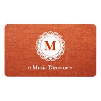 Directeur musical - monogramme élégant de dentelle carte de visite standard