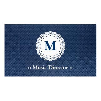 Directeur musical - motif bleu de monogramme de de