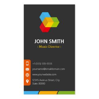 Directeur musical - multicolore moderne carte de visite standard