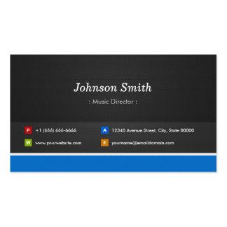 Directeur musical - personnalisable professionnel carte de visite standard