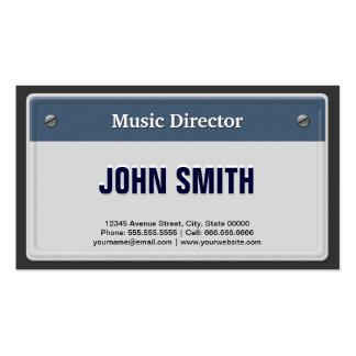 Directeur musical - plat frais de carte grise carte de visite