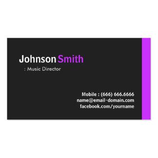 Directeur musical - pourpre minimal moderne carte de visite standard