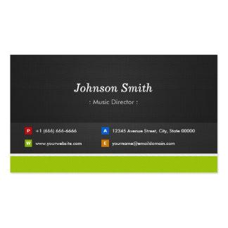 Directeur musical - professionnel et prime cartes de visite professionnelles