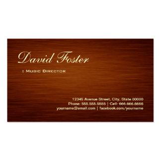 Directeur musical - regard du bois de grain carte de visite standard