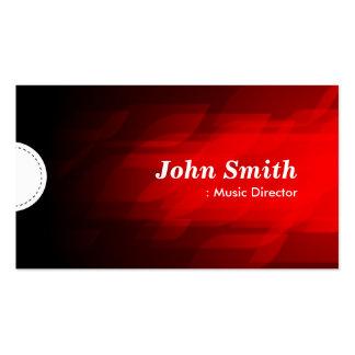 Directeur musical - rouge foncé moderne carte de visite standard