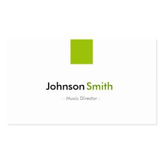 Directeur musical - vert en bon état simple carte de visite standard