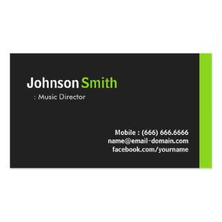 Directeur musical - vert minimaliste moderne modèles de cartes de visite