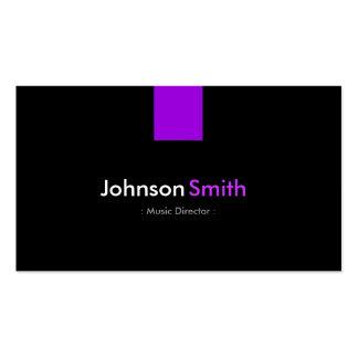 Directeur musical - violette pourpre moderne cartes de visite professionnelles