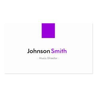 Directeur musical - violette pourpre simple carte de visite standard