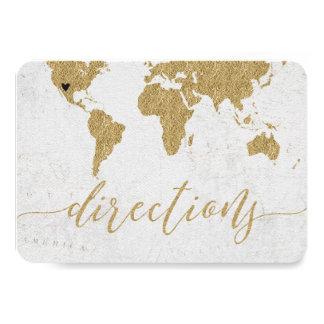 Directions de mariage de destination de carte du