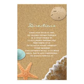 Directions de sable et de plage de coquilles prospectus 14 cm x 21,6 cm