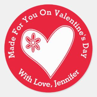 Dirigé vers vous la Saint-Valentin Sticker Rond