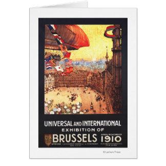 Dirigeable de Lebaudy avec des drapeaux du monde à Cartes