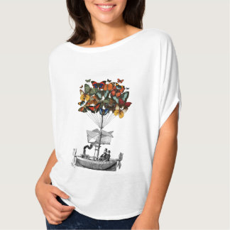 Dirigeable de papillon t-shirt