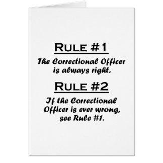 Dirigeant correctionnel de règle cartes de vœux