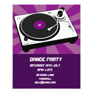Disco de boîte de nuit de soirée dansante du DJ Prospectus 11,4 Cm X 14,2 Cm