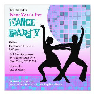 Disco de rose d'invitation de soirée dansante de carton d'invitation  13,33 cm