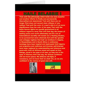 Discours célèbre de guerre de Haile Selassie à l'O Carte De Vœux