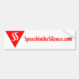 Discours dans l'adhésif pour pare-chocs de silence autocollant de voiture