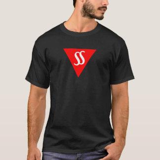 Discours dans le mâle foncé de T-shirt de silence