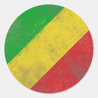 Discriminations raciales sales de Rasta Sticker Rond