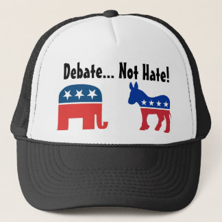 Discussion, pas haine - casquette politique