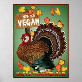 Disparaissent l'affiche de Végétalien-Thanksgiving Posters