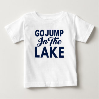 Disparaissent le saut dans le lac t-shirt pour bébé