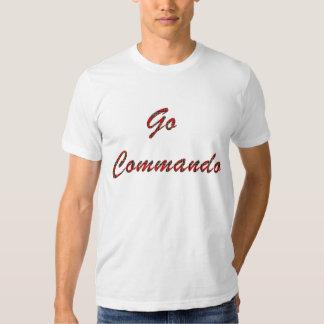 Disparaissent le texte de tartan de commando t-shirt