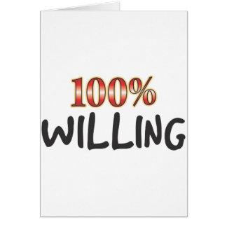 Disposé de 100 pour cent carte de vœux