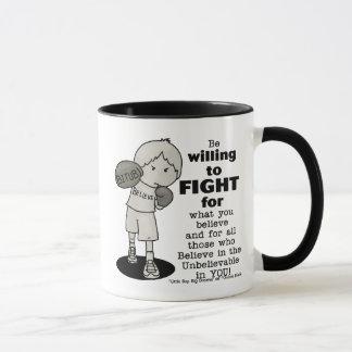 Disposé pour combattre mugs